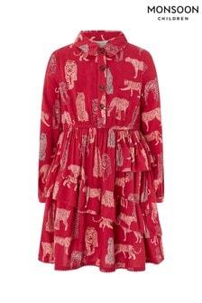 Monsoon Children Red Makoto Shirt Dress