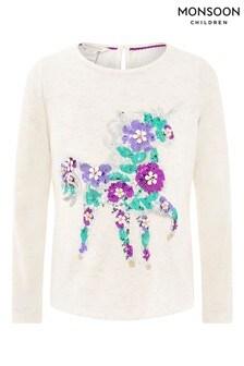 Monsoon Children Cream Eluna Unicorn T-Shirt