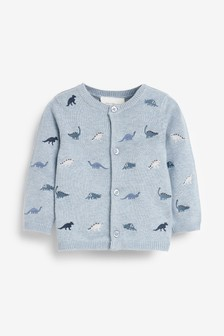 Dinosaur Embroidered Cardigan (0mths-3yrs)