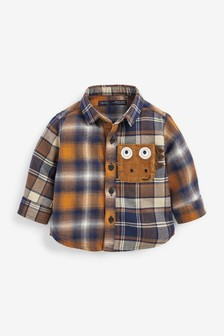 Long Sleeve Shirt With Character Pocket (3mths-7yrs)