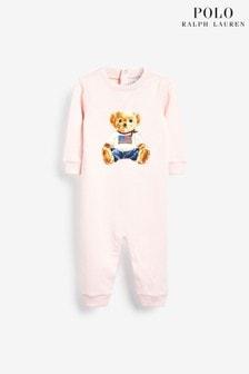 Polo Ralph Lauren Pink Bear Babygrow