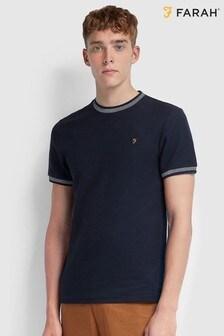 Farah Jaquard Ringer T-Shirt