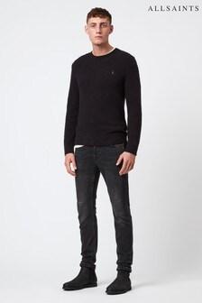 AllSaints Black Long Sleeve Knitted Jumper