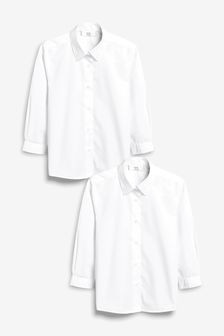 Long Sleeve Formal Blouse Two Pack (3-16yrs)