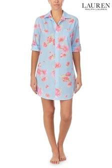 Lauren Ralph Lauren Blue 3/4 Sleeve Roll Tab His Shirt Sleepshirt