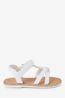 Glitter T-Bar Sandals (Younger)