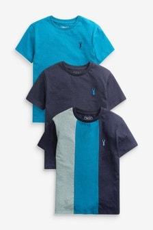 3 Pack Heritage Colourblock T-Shirts (3-16yrs)