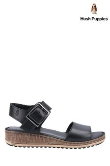 Hush Puppies Black Ellie Heeled Sandals