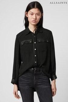AllSaints Black Esther Shirt