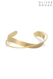 Oliver Bonas Gold Tone Agatha Twist Bangle