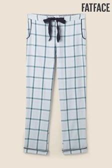 FatFace Blue Check Classic Lounge Pants