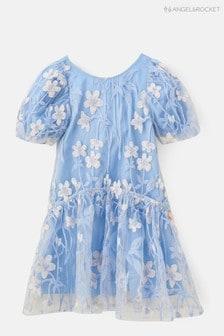 Angel & Rocket Embroidered Mesh Layered Dress