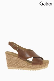 Gabor Warbler Peanut Leather Sandals