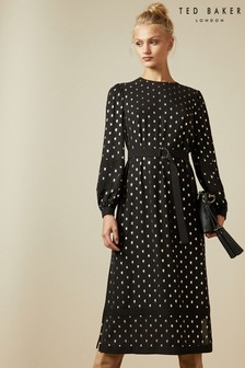 Ted Baker Black Midi Dress
