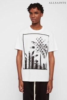 AllSaints White Twilight Star T-Shirt