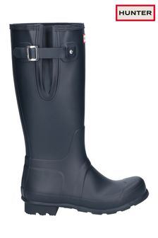 Hunter Blue Original Side Adjustable Wellington Boots