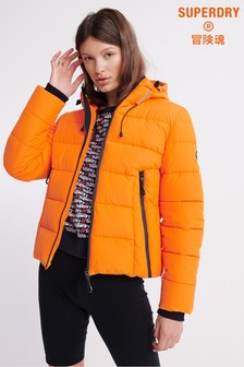 Superdry Orange Icon Padded Jacket
