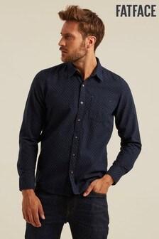 FatFace Blue Petersfield Dobby Shirt