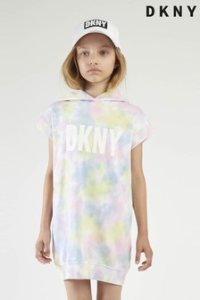 DKNY Multicoloured Tie Dye Logo Jumper Dress