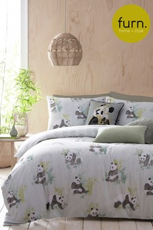 Pandas Duvet Cover and Pillowcase Set by Furn