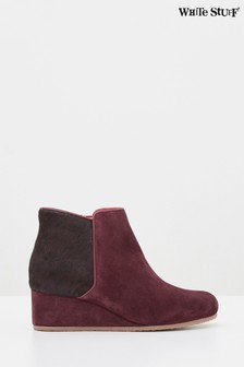 White Stuff Claret Issy Wedge Ankle Boots