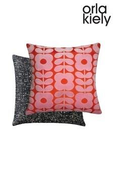 Orla Kiely Flower Stem Velvet Cushion