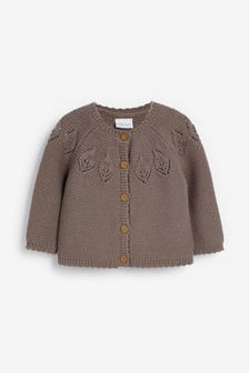 Pointelle Detailed Cardigan (0mths-2yrs)