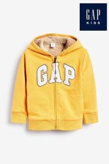 Gap Yellow Zip Through Logo Hoody