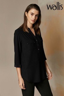 Wallis Black Utility Shirt