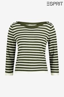Esprit Green Stripe Sweatshirt
