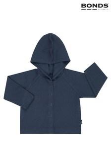Bonds Blue Hooded Ribbed Cardigan