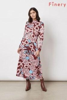 Finery London Pink Ruby High Neck Dress