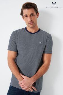 Crew Clothing Company Blue Fine Stripe T-Shirt