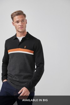 Long Sleeve Regular Fit Block Polo