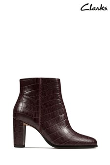 Clarks Red Kaylin Fern Boots