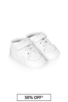 Boss Kidswear Baby Unisex White Shoes