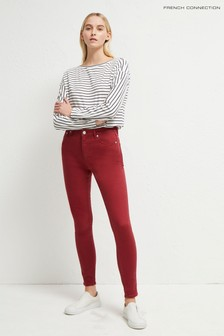 French Connection Pink Organic Col Skinny High Waist Jeans