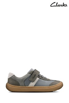Clarks Grey Flash Step K Shoes