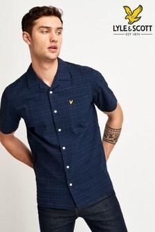 Lyle & Scott Short Sleeve Check Seersucker Resort Shirt