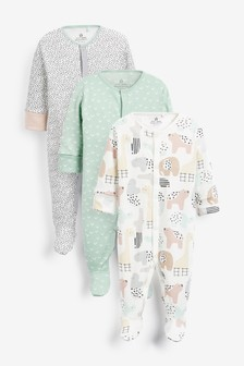 3 Pack GOTS Organic Character Sleepsuits (0mths-2yrs)