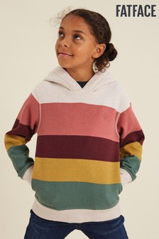 FatFace Pink Colourblock Hoody