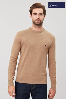Joules Brown Jarvis Crew Neck Jumper