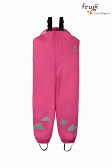 Frugi Waterproof Dungarees In Pink
