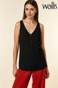 Wallis Black V-Neck Cami Shirt