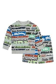 Stella McCartney Kids Boys Grey Cotton Outfit