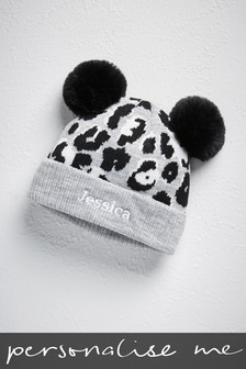 Personalised Animal Print Beanie