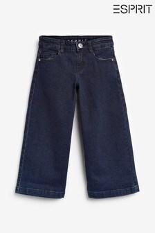Esprit Blue Indigo Denim Culottes