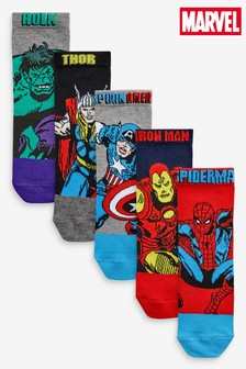 5 Pack Marvel® Avengers Socks (Older)