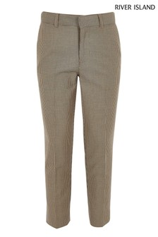River Island Brown Check Trouser