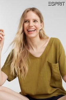 Esprit Green Short Sleeved Woven Blouse
